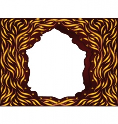 frame magic wood vector image vector image