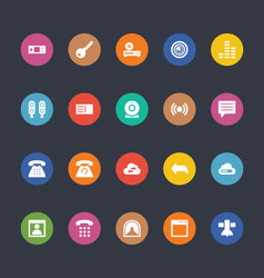 Glyphs colored icons 11 vector