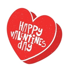 Happy valentines day candy box vector