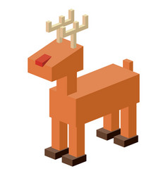 Isometric deer design vector