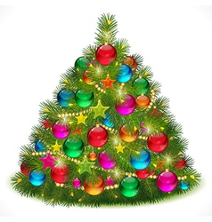Lush christmas tree vector