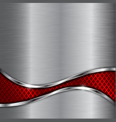 metal background with red steel perforated wave vector image vector image