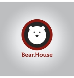 minimalistic bear head logotype vector image