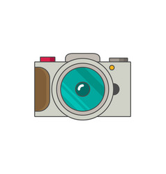 photo camera icon modern minimal flat design style vector image