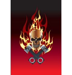 piston skull vector image