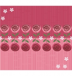 rose daisies pattern vector image vector image