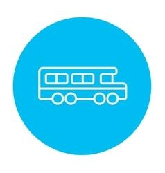 School bus line icon vector image vector image