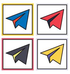 Set of aircraft button icon telegram icon vector