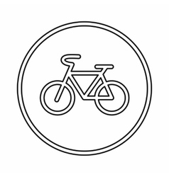 Sign bike icon outline style vector