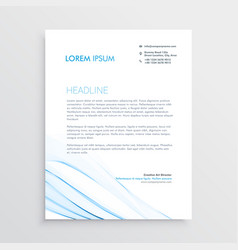 simple creative letterhead template design vector image vector image