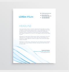 Simple creative letterhead template design vector