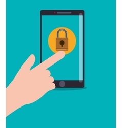 Smartphone security system vector