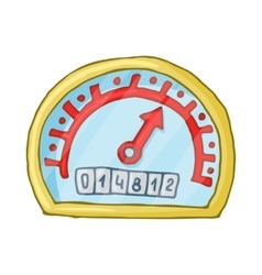 Speedometer and odometer icon cartoon style vector