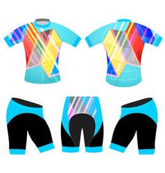 Sports graphics colors t-shirt vector