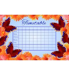 Timetable butterfly nymphalis antiopa vector