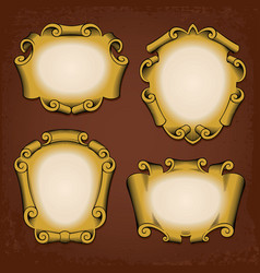 Vintage frames cartouches ribbons vector