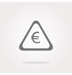 Web icon on cloud with euro eur money sign vector