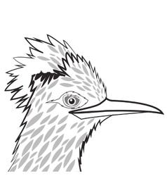 Woodpecker drawing icon vector