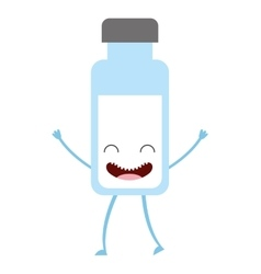 Milk container character cute icon vector