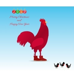 The symbol of the new 2017 rooster vector