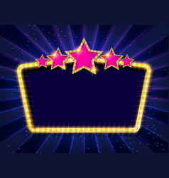 Retro frame with five stars vector