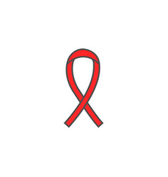 Aids and hiv ribbon solid icon cancer ribbon vector