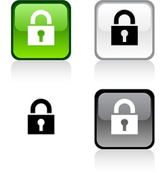 Padlock button vector