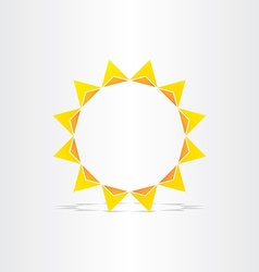 Stylized sun rays hot energy icon vector
