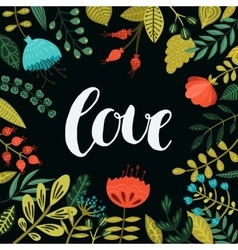 Inspirational love card vector