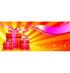 Festive background with gifts vector