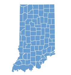State map of indiana by counties vector