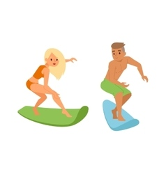 Surfing people boy vector