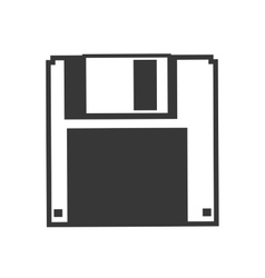 Diskette icon gadget and technology design vector
