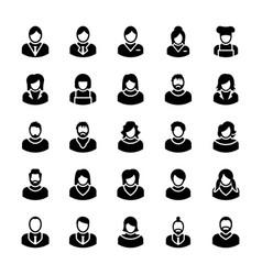 Avatars glyph icons 10 vector