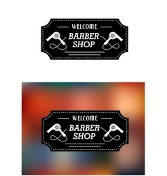 Barber Shop sign with hairdryers vector image vector image