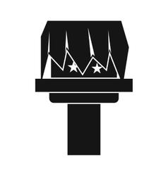Box magic icon simple style vector