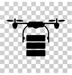 Cargo drone icon vector
