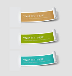 Colorful paper label roll classic retro vector image