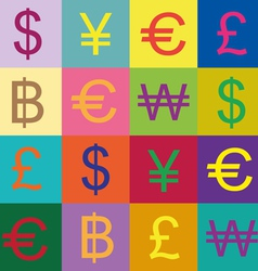 Currency symbols design vector image