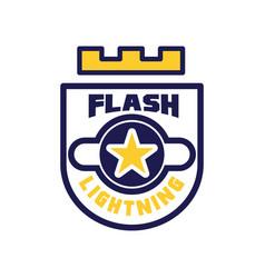 Flash lightning logo template design element with vector
