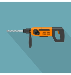 flat drill vector image vector image