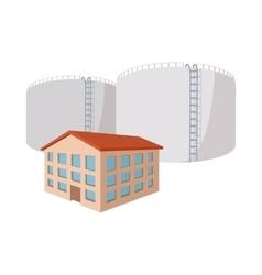 Fuel storage tank cartoon icon vector