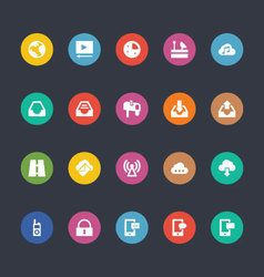 Glyphs colored icons 12 vector