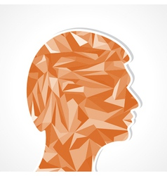 Human head-Abstract of triangles vector image vector image