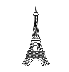 Paris eiffel tower vector image