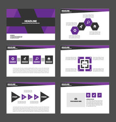 Purple black presentation templates infographic vector