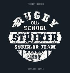 Rugby striker emblem vector