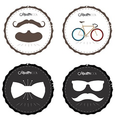 Set of hipster labels vector image
