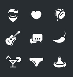 Set of lovelace icons vector