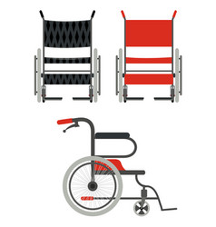 set wheelchair on a white background flat style vector image vector image